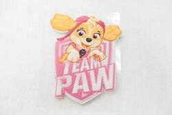 Paw patrol strygemærker - lyserødt med Sky 6 x 5 cm