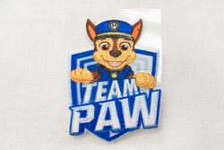Paw patrol strygemærker - blåt med chase 6 x 5 cm
