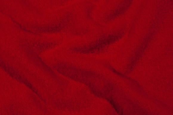 Uld-bouclé rød 100% uld