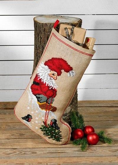 Julesok Julemand og træ