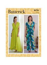 Kjole, Jumpsuit og Skærf. Butterick 6756.