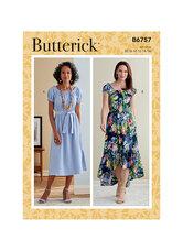 Kjole. Butterick 6757.