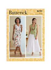 Kjole, Skærf og Bælte. Butterick 6759.