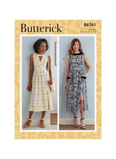 Kjole med kig-hul ved udskæring. Butterick 6761.