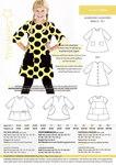 Skøn helt enkel kjole i A-form. Fine 3/4 ærmer og knaplukning på ryggen.