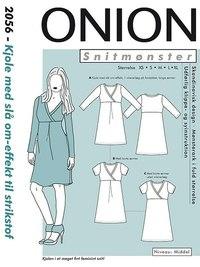 Kjole med slå om-effekt. Onion 2056.