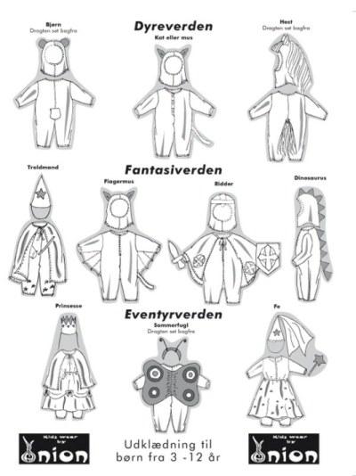 Udklædning til børn fra 3-12 år