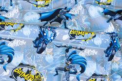 Blågrå bomuldsjersey med Batman