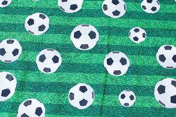 Bomuldsjersey med græs og fodbolde