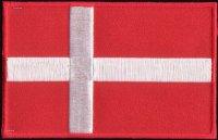 Dansk flag strygemærke 8,5 x 6 cm