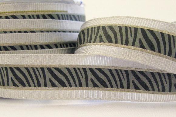 Elegant zebrabånd grå/sort 2cm