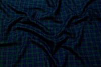 Klantern med stræk i marine og flaskegrøn, 3x3 cm tern