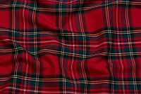 Klantern - rød og sort, 12x12 cm tern