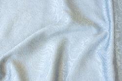 Mellemgrå jacquard-vævet polyester og viscose