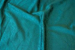 Mørkgrøn jacquard-vævet polyester og viscose