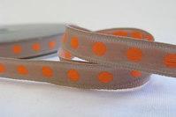 Orange bomber på beige bånd 1cm