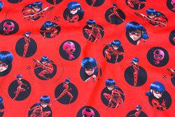 Rød bomuldsjersey med Lady Bug