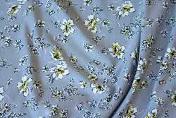 Tencel-Modal blød jersey i grå med 1-2 cm blomster