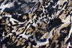 Viscosejersey mørkt dyreprint