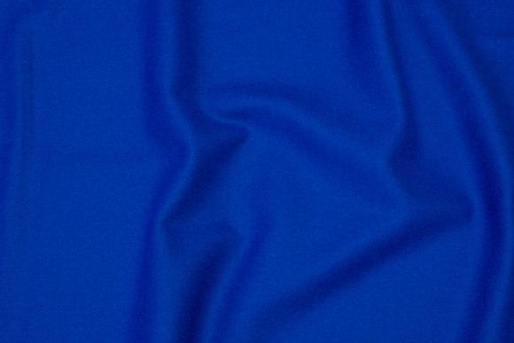 100% mellemsvær uldflannel i coboltblå