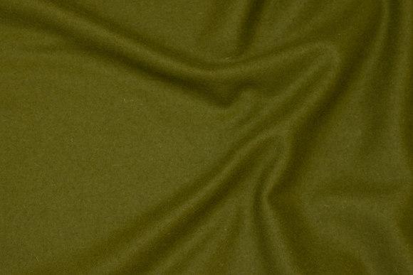 100% mellemsvær uldflannel i olivengrøn