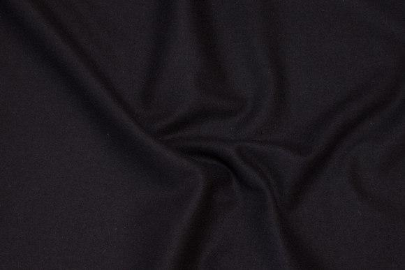100% mellemsvær uldflannel i sort