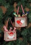 Permin 3247-21. Broderede juleposer til juletræet.