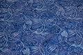 Batik-bomuld i blå og lyseblå