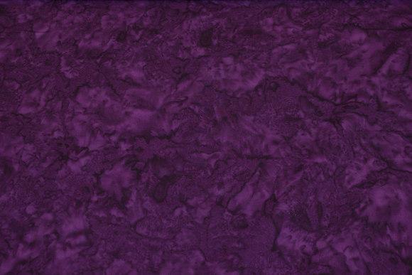 Batik-bomuld i mørk aubergine