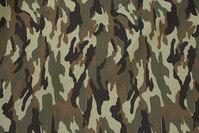 Camouflagestof til bukser, jakker m.m. i polyester og bomuld
