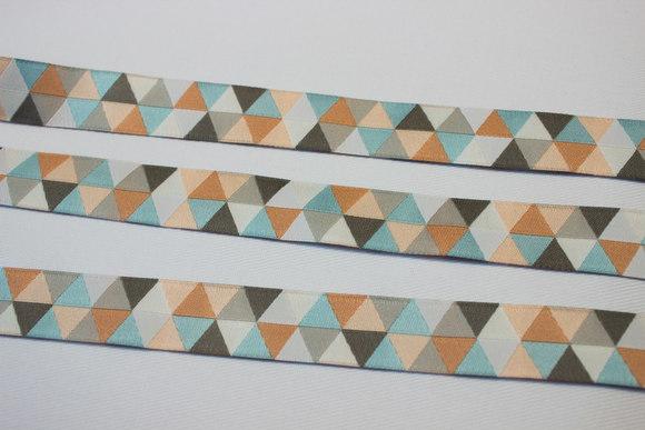 Grafisk bånd trekanter 2cm