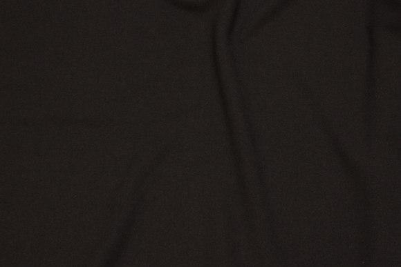Kjole stræk-crepe i sort