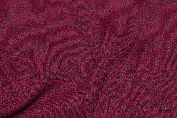 Kraftig acryl-rib i meleret rød og sort