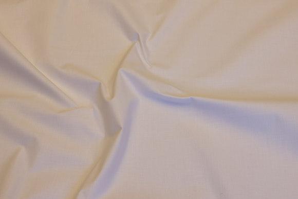 Let, hvid lærredsvævet bomuld og polyester