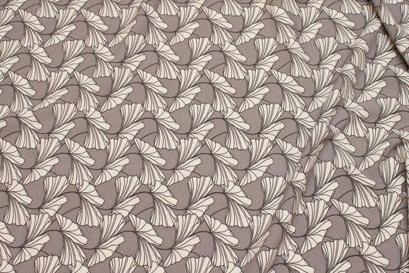 Let lys grå kjolecrepe med let stræk