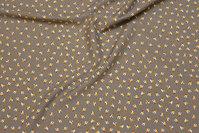 Let polyester bluse-stretch i grå med minimønster
