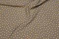 Let polyester bluse-stretch i grå med minimønster.