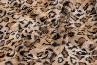 Luxuspels i superblød imiteret leopard