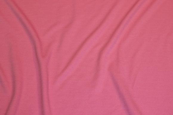 Lyserød, tynd jersey med uld
