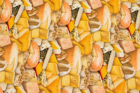 Patchwork bomuld med oste