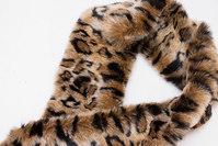 Pelsstykke i superblød imiteret jaguar