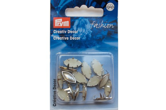 Pyntenitter ovale perler, 16 stk.  15 mm