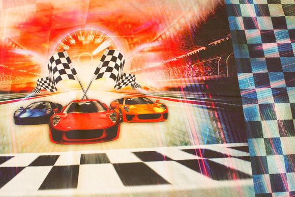 Racerbil panel (forstykke og bagstykke) bomuldsjersey til T-shirts