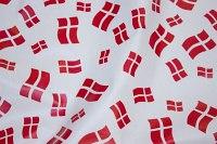 Rød-hvide flag på voksdug
