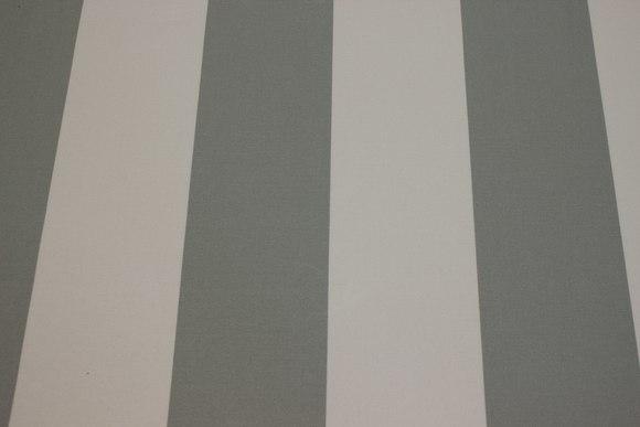 Texgard-imprægneret markisestof, grå og hvid