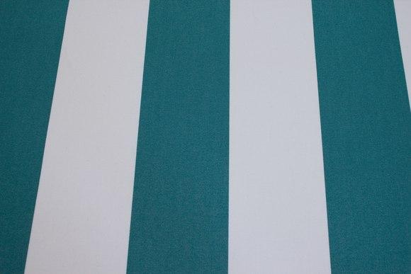 Texgard-imprægneret markisestof, grøn og hvid