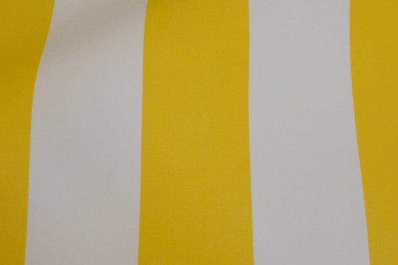 Texgard-imprægneret markisestof. Gul og hvid