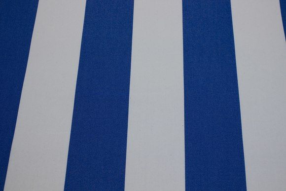Texgard-imprægneret markisestof, kongeblå og hvid