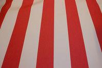 Texgard-imprægneret markisestof, rød og hvid