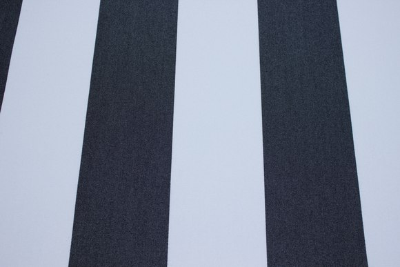 Texgard-imprægneret markisestof, sort og hvid